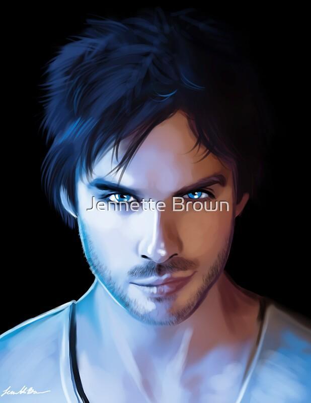 Quot Damon Salvatore Vampire Diaries Fan Art Print Quot Posters By