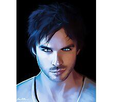 Damon Salvatore Vampire Diaries Fan Art Print Photographic Print