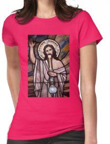 Jesus Hittin a Bong Womens Fitted T-Shirt