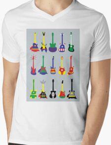 SuperGuitarHero Mens V-Neck T-Shirt