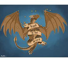 Dragonheart Draco Look To The Stars Fan Art Print Photographic Print