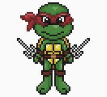 TMNT Raphael Pixel by geekmythology