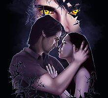 Beauty and the Beast Shattered Fan Art Print by sugarpoultry