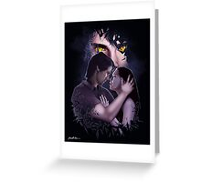 Beauty and the Beast Shattered Fan Art Print Greeting Card