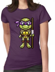 TMNT Donatello Pixel Womens Fitted T-Shirt