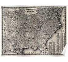 Civil War Maps 0924 Map of the military operations during the war of 1861-1865 designed expressly to accompany ''The lost cause'' a standard southern history of the war Poster