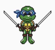 TMNT Leonardo Pixel by geekmythology