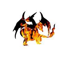 Mega Charizard Y used Blast Burn Photographic Print