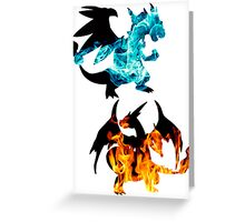 Mega Charizard X and Y used Blast Burn Greeting Card