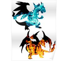 Mega Charizard X and Y used Blast Burn Poster