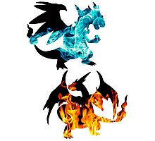 Mega Charizard X and Y used Blast Burn Photographic Print