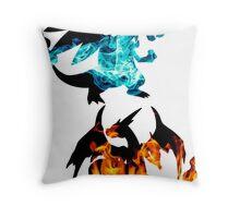 Mega Charizard X and Y used Blast Burn Throw Pillow