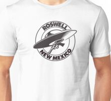 Roswell New Mexico Flying Saucer & Six Shooter Unisex T-Shirt