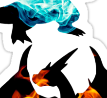 Mega Charizard X and Y used Blast Burn Sticker