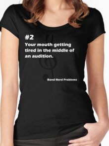 Band Nerd Problems #2 Women's Fitted Scoop T-Shirt