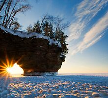 Fading Warmth, Apostle Islands, WI by Michael Treloar