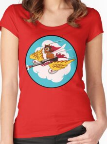 301st Fighter Squadron Emblem Women's Fitted Scoop T-Shirt
