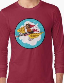301st Fighter Squadron Emblem Long Sleeve T-Shirt