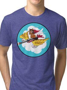 301st Fighter Squadron Emblem Tri-blend T-Shirt