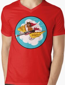 301st Fighter Squadron Emblem Mens V-Neck T-Shirt