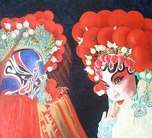 Beijing  Opera Characters 3 by Joseph Barbara