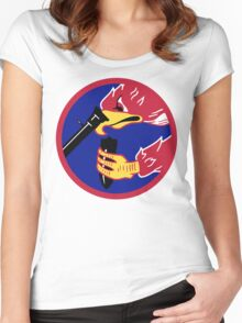 492d Fighter Squadron Emblem Women's Fitted Scoop T-Shirt
