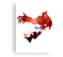 Yveltal used Oblivion Wing Canvas Print
