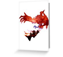 Yveltal used Oblivion Wing Greeting Card
