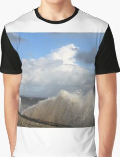 Crashing Waves Cumbrian Coastline Graphic T-Shirt