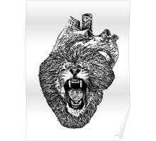 A Lion Heart Roars Poster