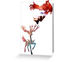 Xerneas vs Yveltal Greeting Card