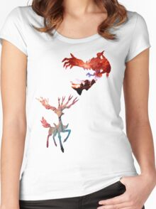 Xerneas vs Yveltal Women's Fitted Scoop T-Shirt