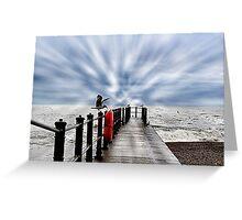Seagulls, sea view Greeting Card