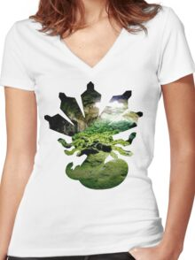 Zygarde used Camouflage Women's Fitted V-Neck T-Shirt