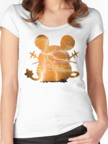 Dedenne used Thunder Women's Fitted Scoop T-Shirt
