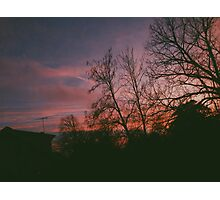 6:34, suburbs, winter Photographic Print