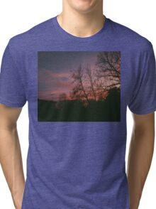 6:34, suburbs, winter Tri-blend T-Shirt