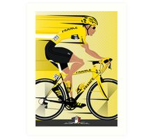 France Yellow Jersey Art Print