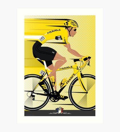 France Yellow Jersey Art Print