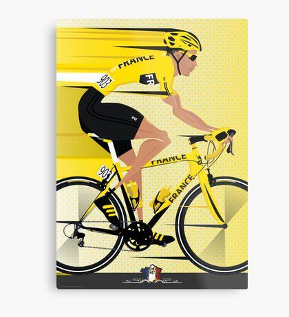 France Yellow Jersey Metal Print