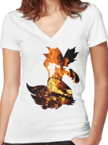 Delphox used Mystical Fire Women's Fitted V-Neck T-Shirt