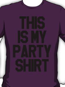 Party Shirt - Black T-Shirt