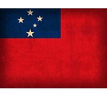 Samoa Flag Photographic Print