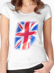 Retro Brit Pop Women's Fitted Scoop T-Shirt