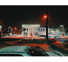8:26, walking during a blizzard Photographic Print
