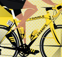 France Yellow Jersey Sticker