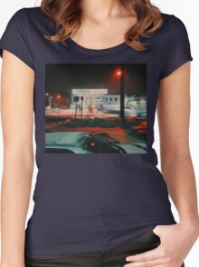 8:26, walking during a blizzard Women's Fitted Scoop T-Shirt