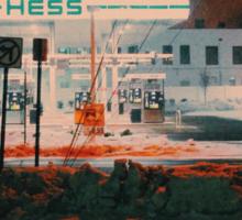 8:26, walking during a blizzard Sticker