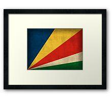 Seychelles Flag Framed Print