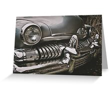 old chromed american car  Greeting Card